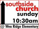 Southside Church Directional Sign